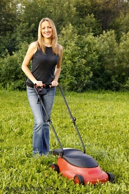 from Elian naked woman on lawn mower